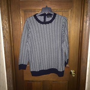 J crew pattered cashmere sweater